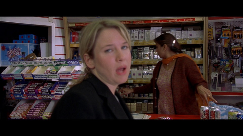 Golden Wonder, Clorets, Dentyne, Halls, Fruittella, Diet Coke & Duracell in Bridget Jones's Diary (2001)