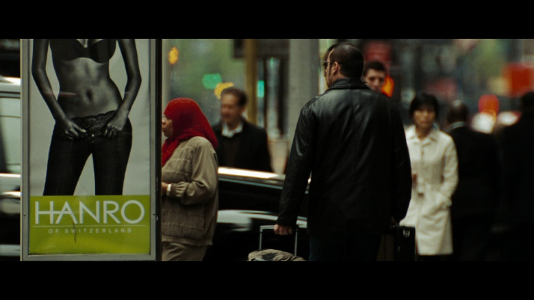 HANRO woman & men luxurious underwear & nightwear shop ad in The Taking of Pelham 123 (2009)
