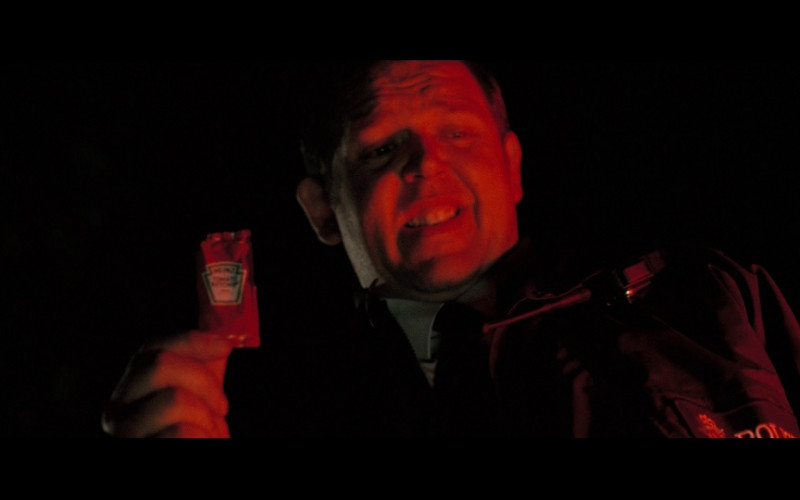 Heinz Tomato Ketchup Held by Nick Frost in Hot Fuzz (2007)