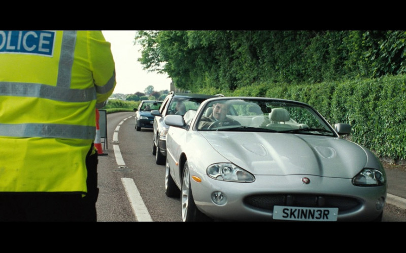 Jaguar XKR Convertible Car in Hot Fuzz Movie (1)