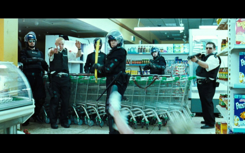 Kellogg's Tiger Power & Kellogg's Frosties Cereals in Hot Fuzz (2007)