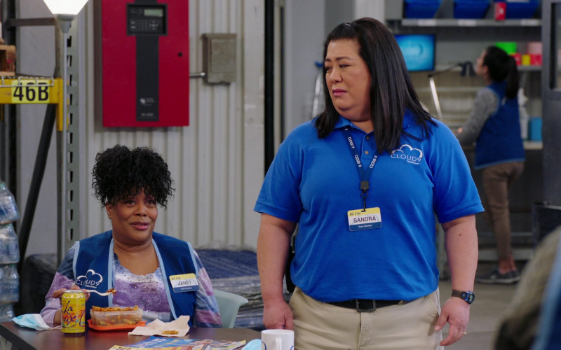 LaCroix Water Can of Carla Renata as Janet in Superstore S06E07 The Trough (2021)