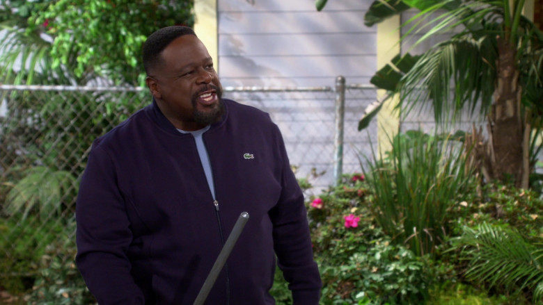 Lacoste Men's Bomber Jacket of Cedric the Entertainer as Calvin Butler in The Neighborhood S03E08