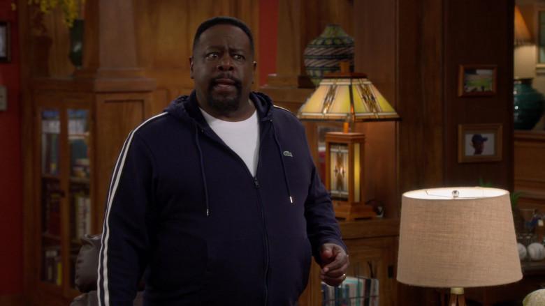 Lacoste Men's Full-Zip Hoodie of Cedric the Entertainer as Calvin Butler in The Neighborhood S03E07