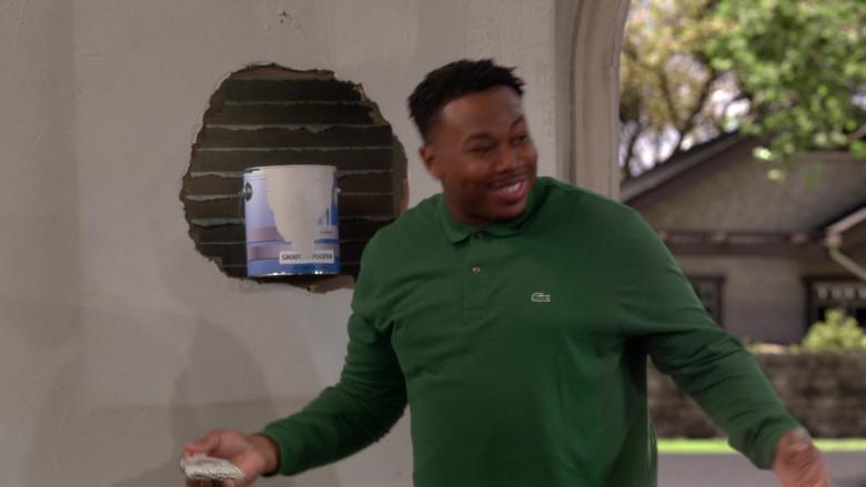Lacoste Men's Green Long Sleeve Shirt of Marcel Spears as Marty in The Neighborhood S03E08 (1)