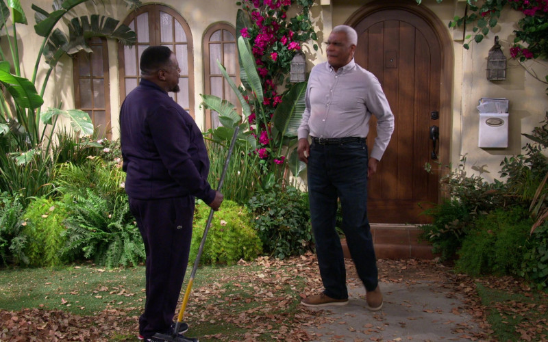 Lacoste Men's Pants Worn by Cedric the Entertainer as Calvin in The Neighborhood S03E08