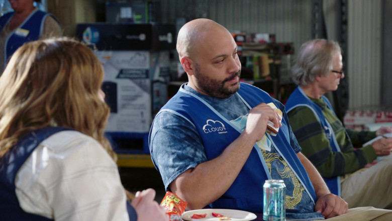 Lacroix Water Enjoyed by Colton Dunn as Garrett McNeil in Superstore S06E07 The Trough (2021)