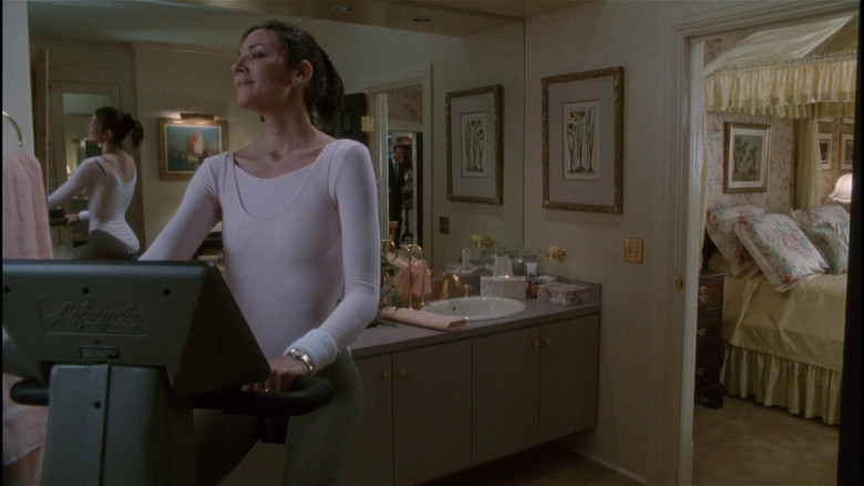 Life Fitness Lifecycle Exercise Bike of Kim Cattrall as Judy McCoy in The Bonfire of the Vanities (1990)