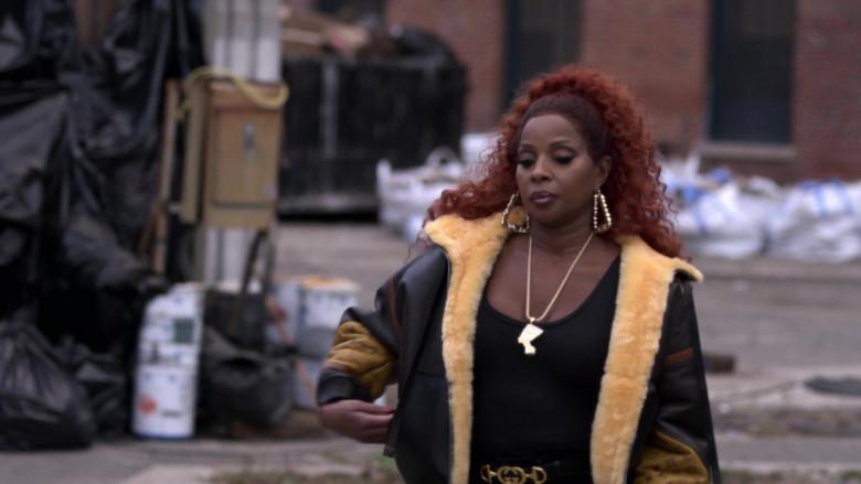Louis Vuitton Tattoo Monogram Reversible Aviator Jacket of Mary J. Blige as Monet in Power Book II (2)