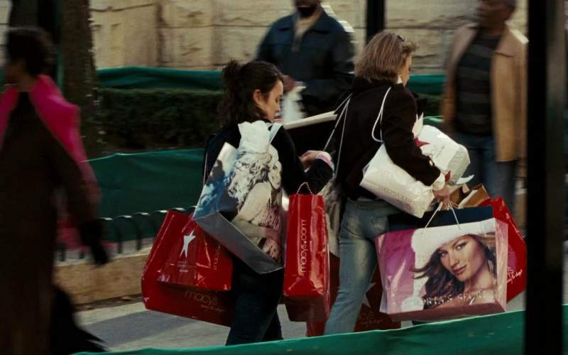 Macy's and Victoria's Secret Store Paper Bags in Fred Claus (2007)