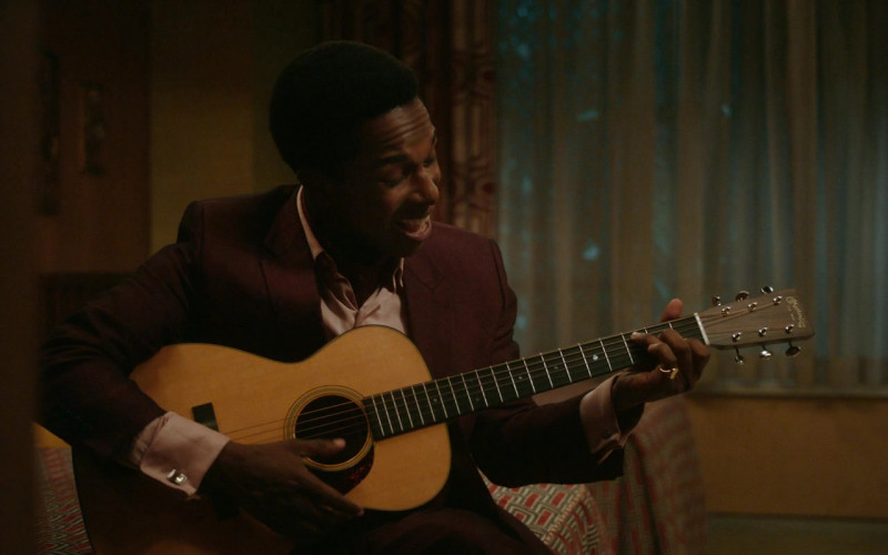 Martin Guitar of Leslie Odom Jr. as Sam Cooke in One Night in Miami (1)