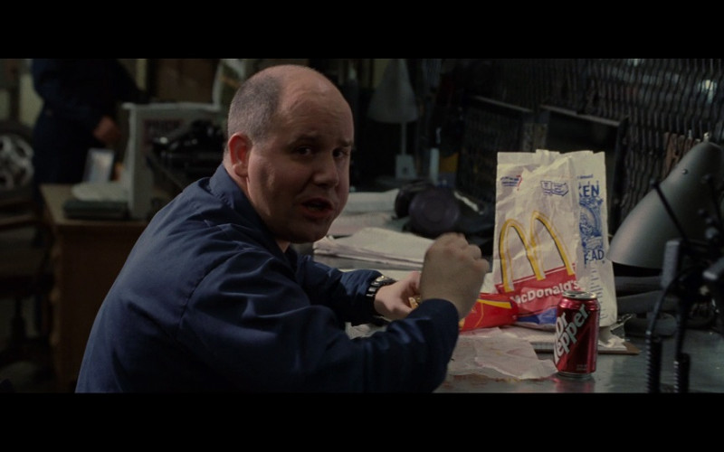 McDonald's Fast Food & Dr. Pepper Soda Drink Can in S.W.A.T. (2003)