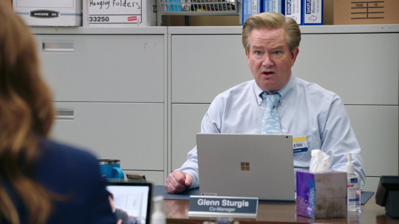 Microsoft Surface Laptop of Mark McKinney as Glenn Sturgis in Superstore S06E07 The Trough (2021)