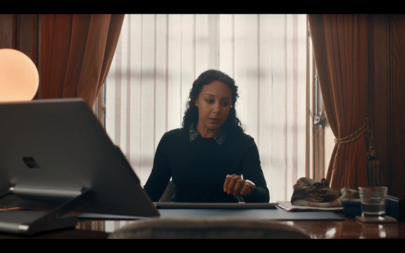 Microsoft Surface Studio Computer of Adelle Leonce as Phoebe Taylor in A Discovery of Witches Season 2 TV Show (1)