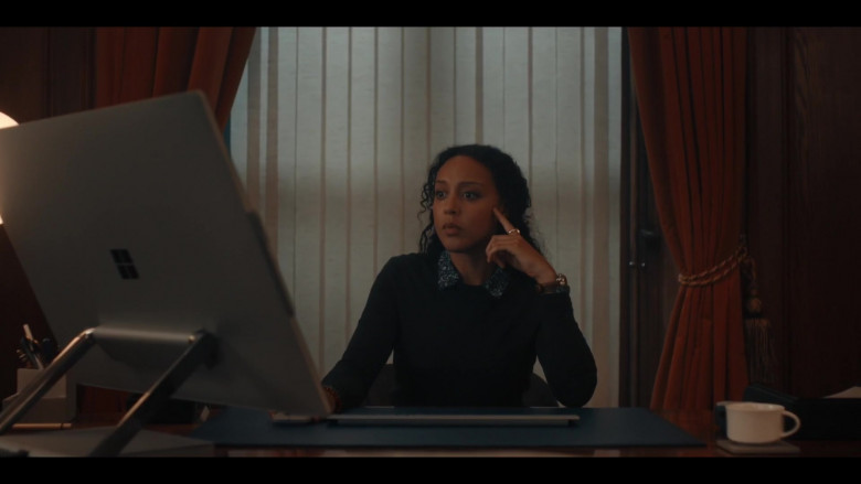 Microsoft Surface Studio Computer of Adelle Leonce as Phoebe Taylor in A Discovery of Witches Season 2 TV Show (2)