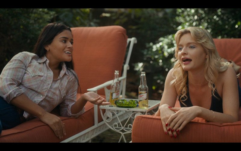 Miller High Life Beer Bottle of Gigi Zumbado as Tammy in Bridge and Tunnel S01E01 The Graduates (2021)