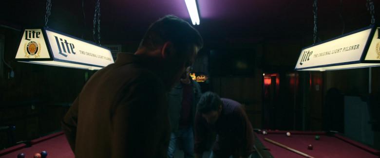Miller Lite Beer Pool Lamp in Palmer 2021 Movie (2)