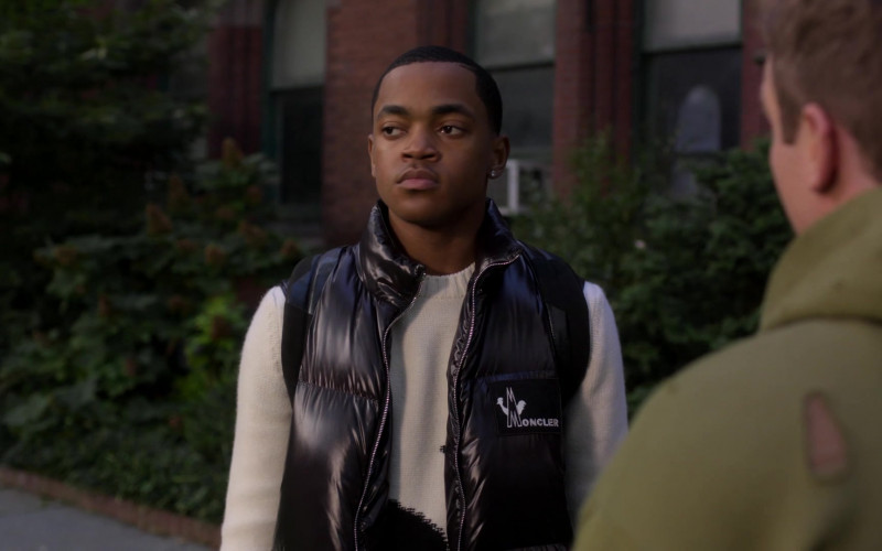 Moncler Men's Down Vest Worn by Michael Rainey Jr. as Tariq St. Patrick in Power Book II Ghost S01E10 (2)