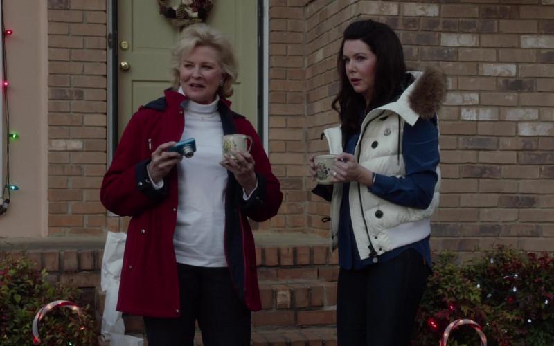 Moncler Women's White Vest of Lauren Graham as Luann Mitchler in A Merry Friggin' Christmas (1)