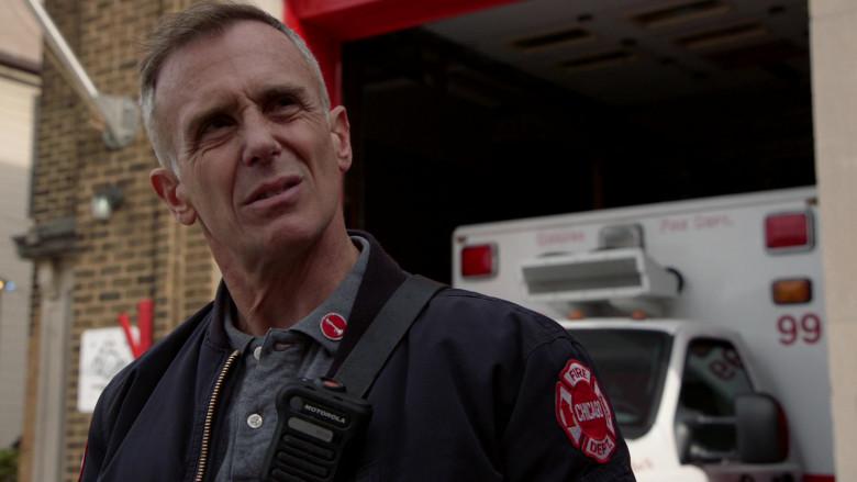 Motorola Radio of David Eigenberg as Lieutenant (previously Senior Firefighter) Christopher Herrmann in