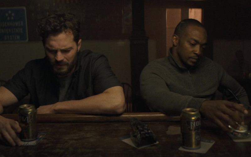 NOLA Blonde Ale Enjoyed by Jamie Dornan as Dennis Dannelly & Anthony Mackie as Steve Denube in Synchronic Movie