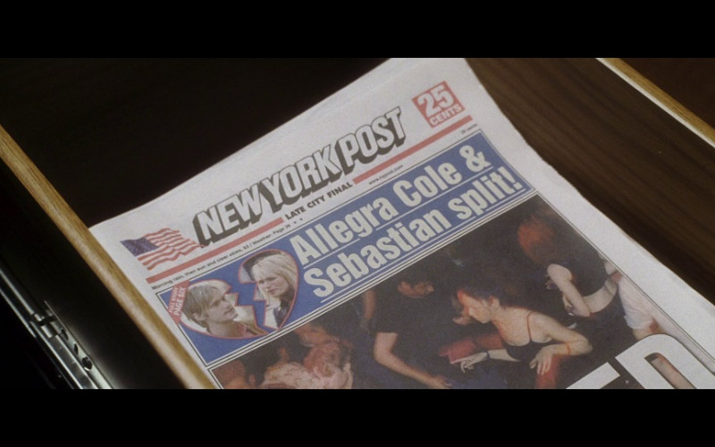 New York Post Newspaper in Hitch (2005)