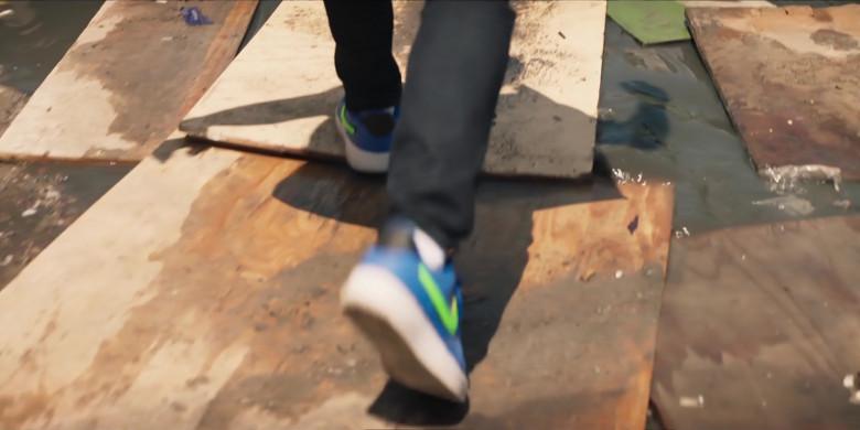Nike AF 1 Men's Blue Low Sneakers of Noel Clarke as Aaron 'Bish' Bishop in Bulletproof S03E02 (1)