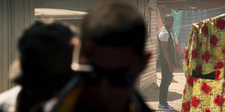 Nike AF 1 Men's Blue Low Sneakers of Noel Clarke as Aaron 'Bish' Bishop in Bulletproof S03E02 (2)
