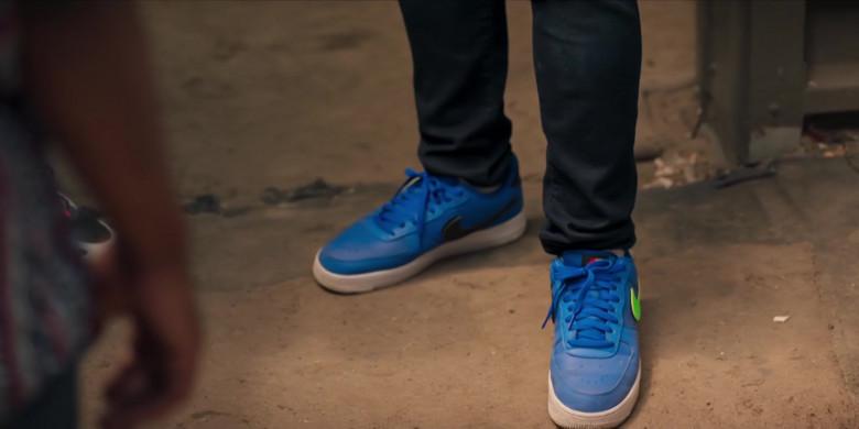 Nike AF 1 Men's Blue Low Sneakers of Noel Clarke as Aaron 'Bish' Bishop in Bulletproof S03E02 (3)