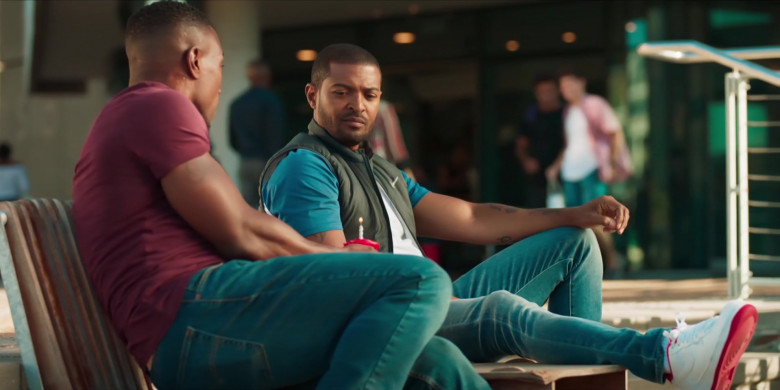 Nike Air Force 1 White Sneakers of Noel Clarke as Aaron 'Bish' Bishop in Bulletproof S03E01 (1)