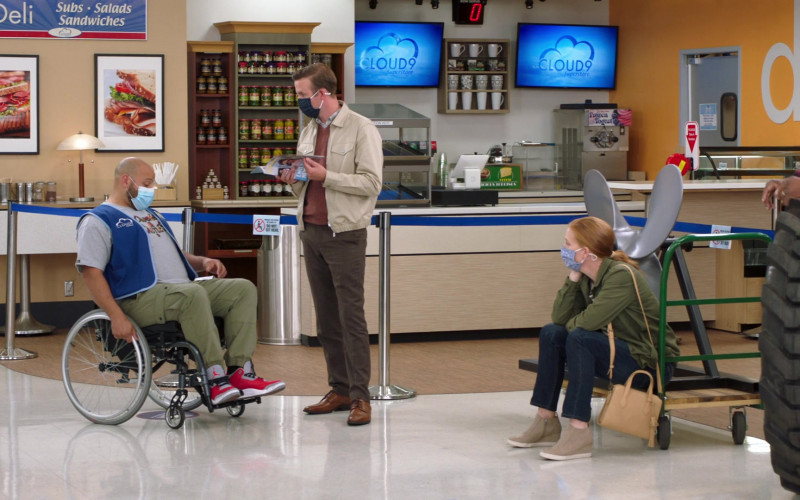 Nike Air Jordan 3 High Top Sneakers of Colton Dunn as Garrett McNeil in Superstore S06E06 Biscuit (2021)