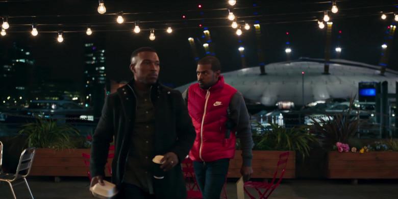 Nike Men's Down Vest (Red) Worn by Noel Clarke as Aaron 'Bish' Bishop in Bulletproof S03E03 (1)