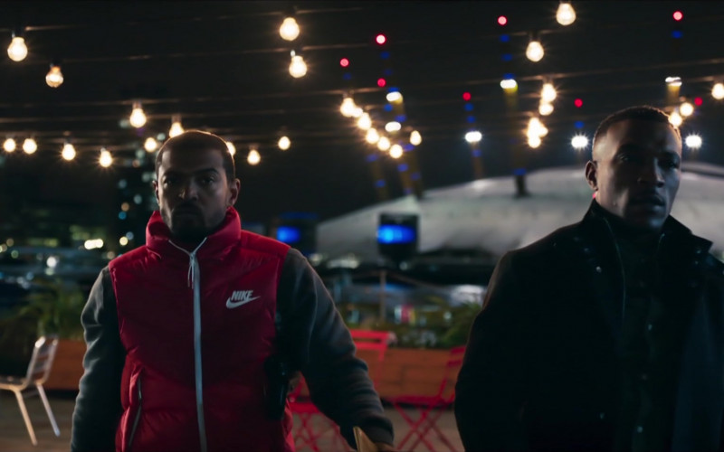 Nike Men's Down Vest (Red) Worn by Noel Clarke as Aaron 'Bish' Bishop in Bulletproof S03E03 (2)