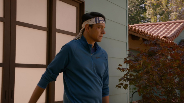 Nike Men's Jacket (Blue) of Ralph Macchio as Daniel LaRusso in Cobra Kai S03E10 (1)