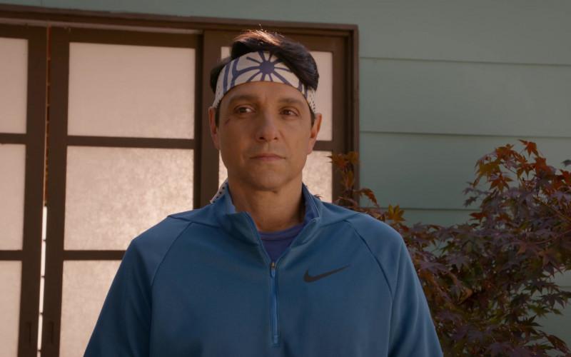Nike Men's Jacket (Blue) of Ralph Macchio as Daniel LaRusso in Cobra Kai S03E10 (2)