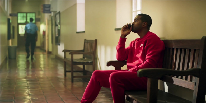 Nike Men's Sweatshirt and Sweatpants Suit (Red) Outfit of Noel Clarke as Aaron 'Bish' Bishop in Bulletproof S03E03 (1)