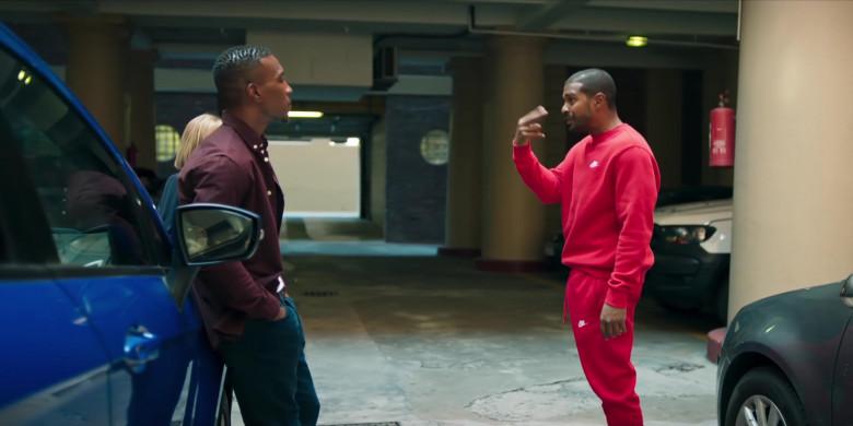 Nike Men's Sweatshirt and Sweatpants Suit (Red) Outfit of Noel Clarke as Aaron 'Bish' Bishop in Bulletproof S03E03 (2)