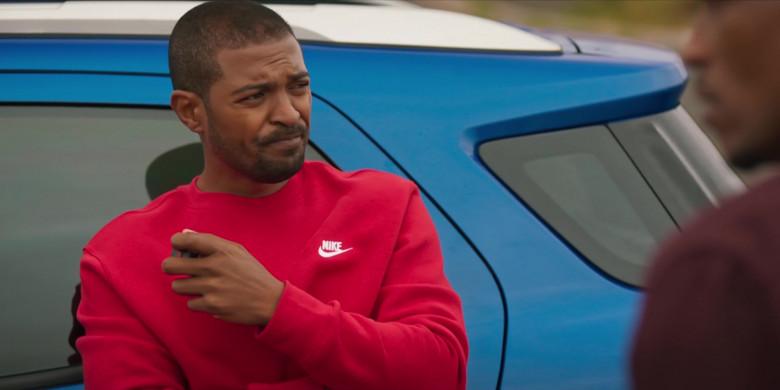 Nike Men's Sweatshirt and Sweatpants Suit (Red) Outfit of Noel Clarke as Aaron 'Bish' Bishop in Bulletproof S03E03 (3)