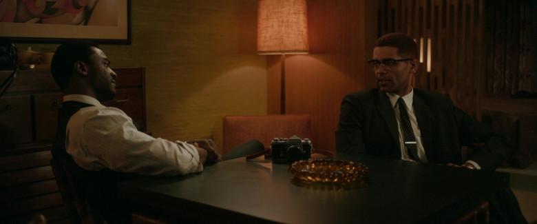 Nikon Camera of Kingsley Ben-Adir as Malcolm X in One Night in Miami Movie (2)
