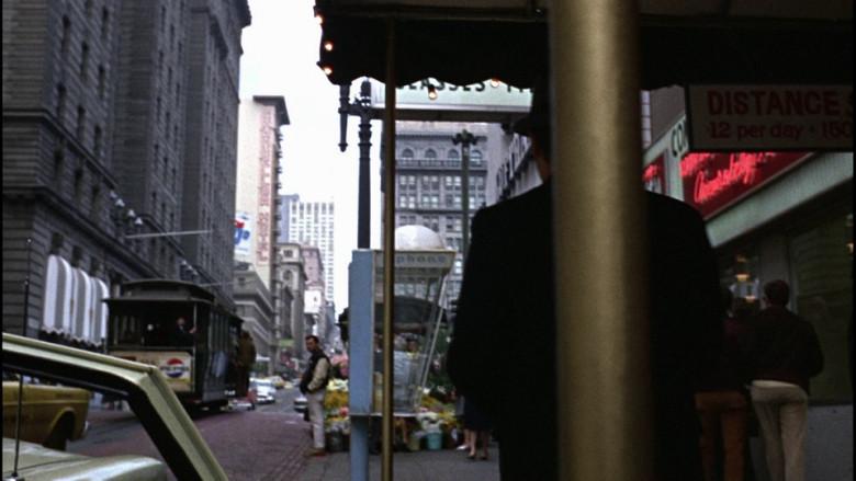 Pepsi advertising on the tram in Bullitt (1968)