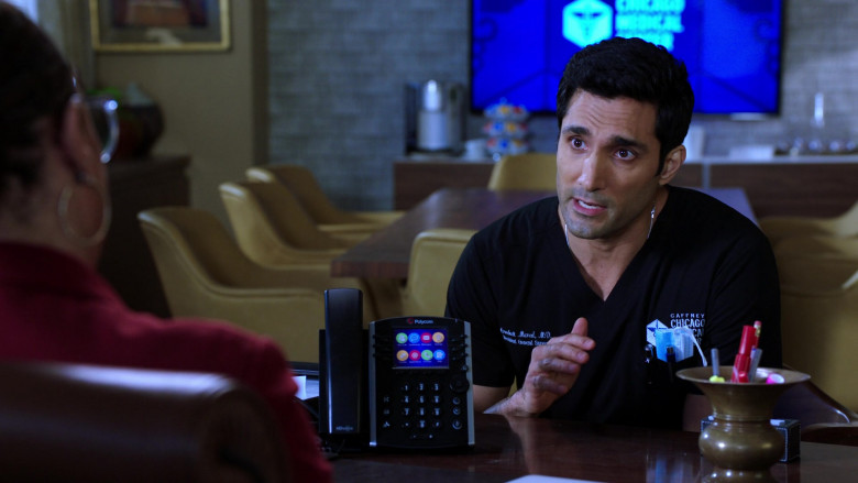 Polycom Telephone in Chicago Med S06E04
