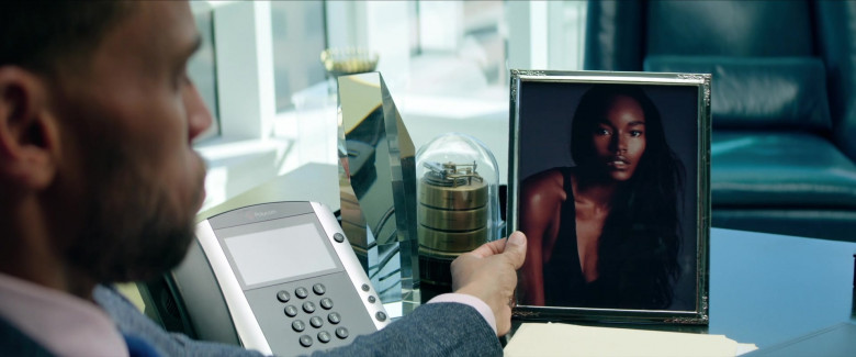 Polycom Telephone of Michael Ealy as Derrick Tyler in Fatale (2020)
