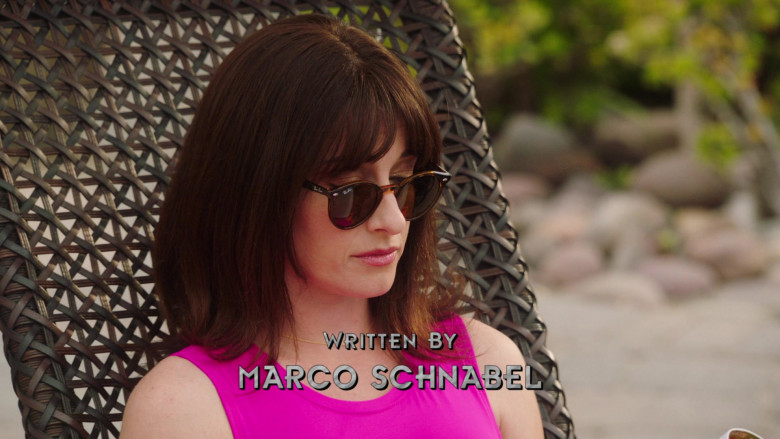 Ray-Ban RB2180 Women's Round Sunglasses of Margo Harshman as Delilah McGee in NCIS S18E04 Sunburn (2021)