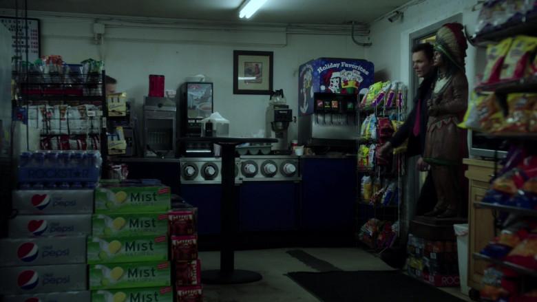 Rockstar Energy Drinks, Diet Pepsi, Sierra Mist, Mug Root Beer, UTZ Snacks in A Merry Friggin' Christmas (2014)