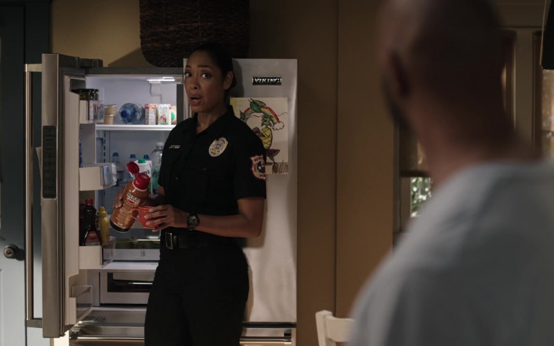 Rockview Hazelnut Non Dairy Creamer Held by Gina Torres as Tommy Vega in 9-1-1 Lone Star S02E01