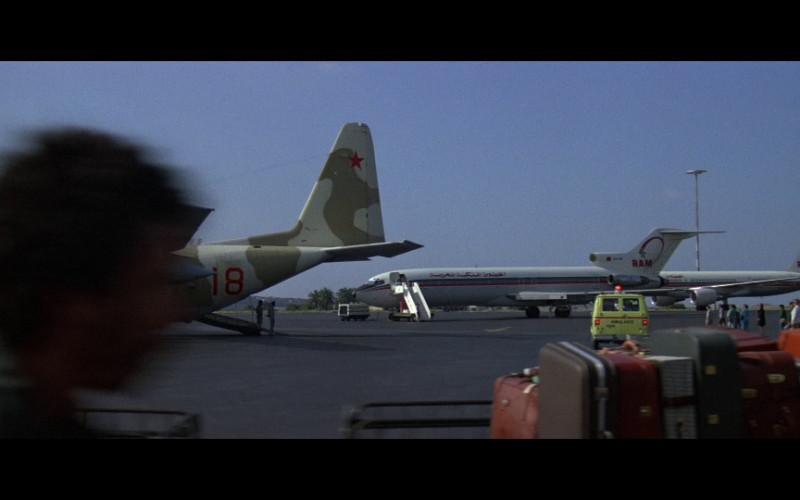 Royal Air Maroc Airlines Aircrafts in The Living Daylights (1987)