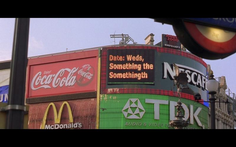 Samsung, Coca-Cola, Nescafé, McDonald's & TDK in Bridget Jones's Diary (2001)