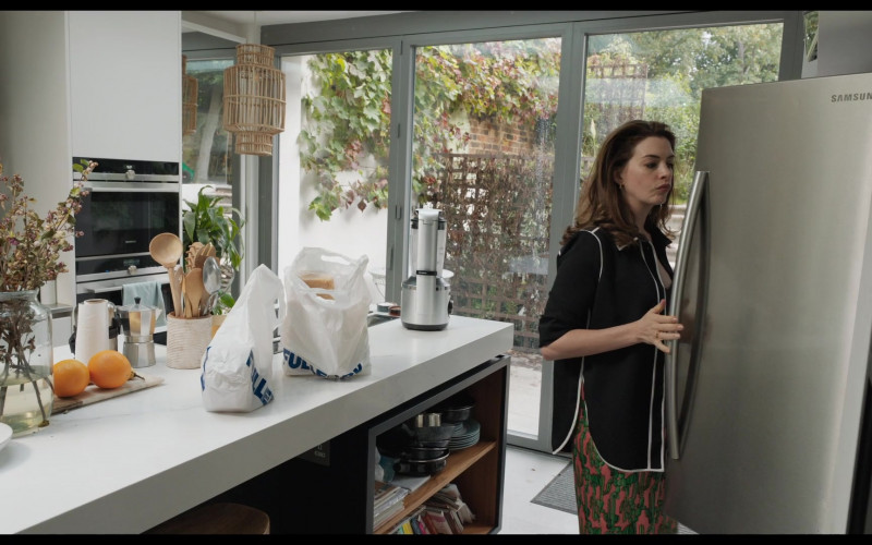Samsung Refrigerator of Anne Hathaway as Linda Thurman in Locked Down (2021)
