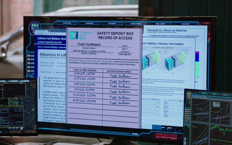 Samsung TV or Monitor in NCIS New Orleans S07E05