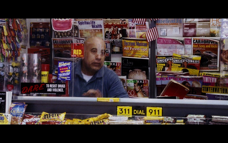 Skittles, M&Ms, Snickers, Milky Way in Hitch (2005)